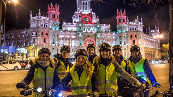 Bike Tour Madrid Christmass