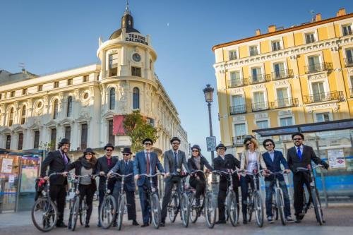 City bike tour Madrid group