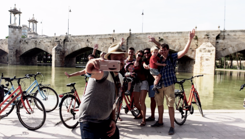 Selfie Valencia bike tour